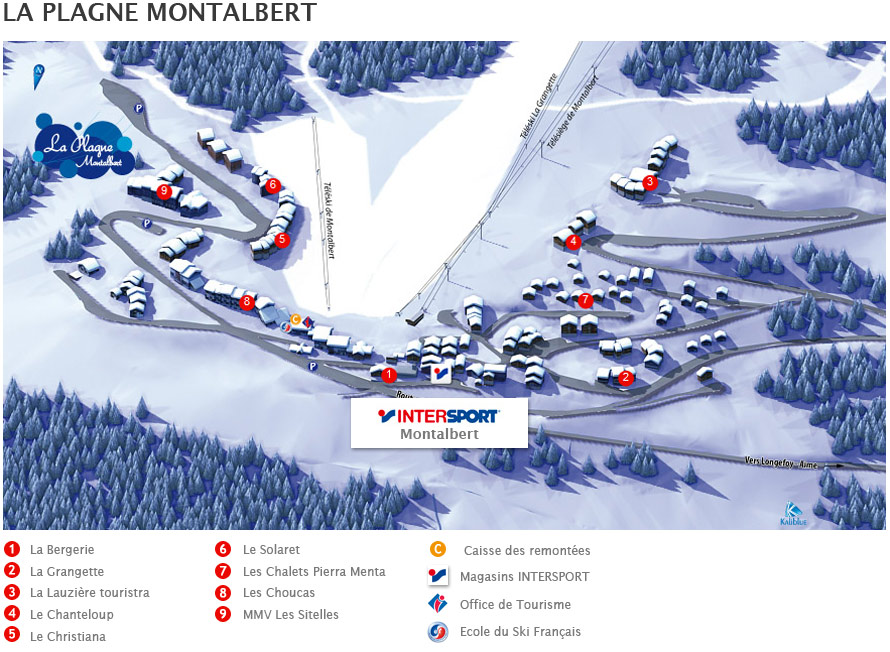 Ski rental Intersport La Plagne Montalbert